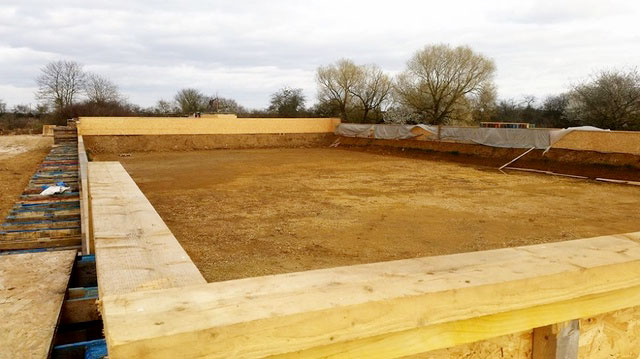 Construction bassin à vague